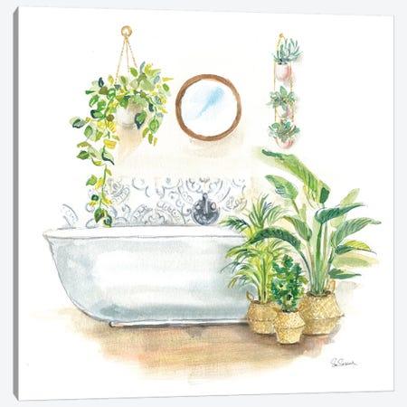 Greenery Bath II Canvas Print #SLB94} by Sue Schlabach Canvas Art Print