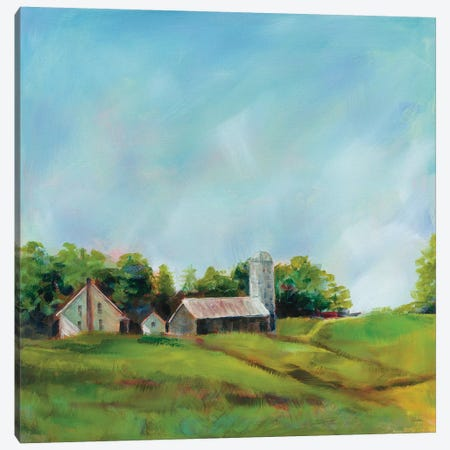 June Farm Canvas Print #SLB95} by Sue Schlabach Art Print