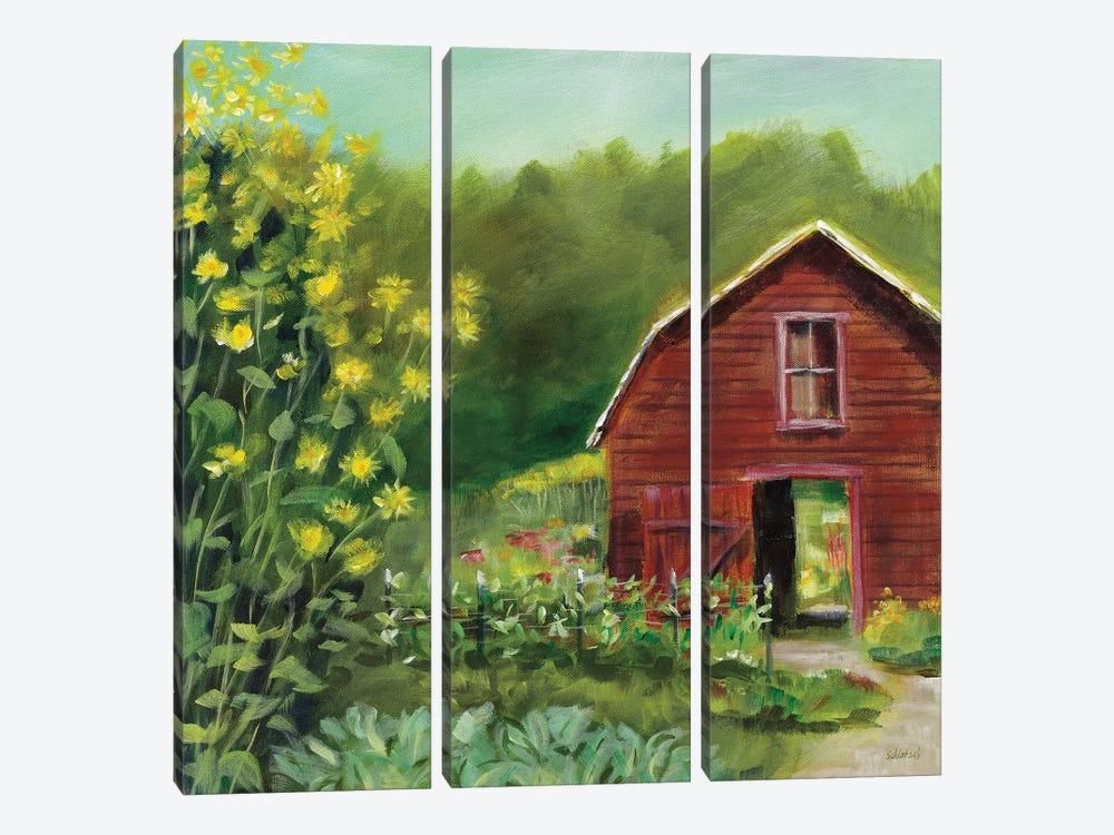 Kelly Way Barn by Sue Schlabach 3-piece Canvas Print