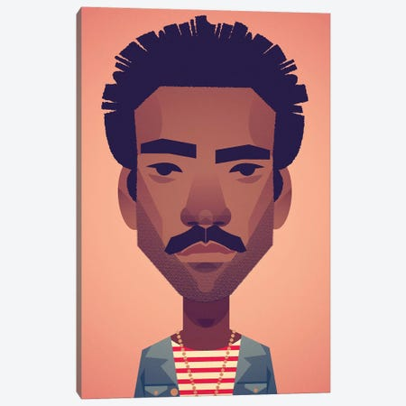 Donald Glover Canvas Print #SLC14} by Stanley Chow Canvas Art