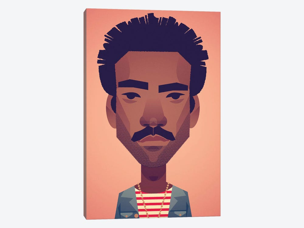 Donald Glover by Stanley Chow 1-piece Canvas Art