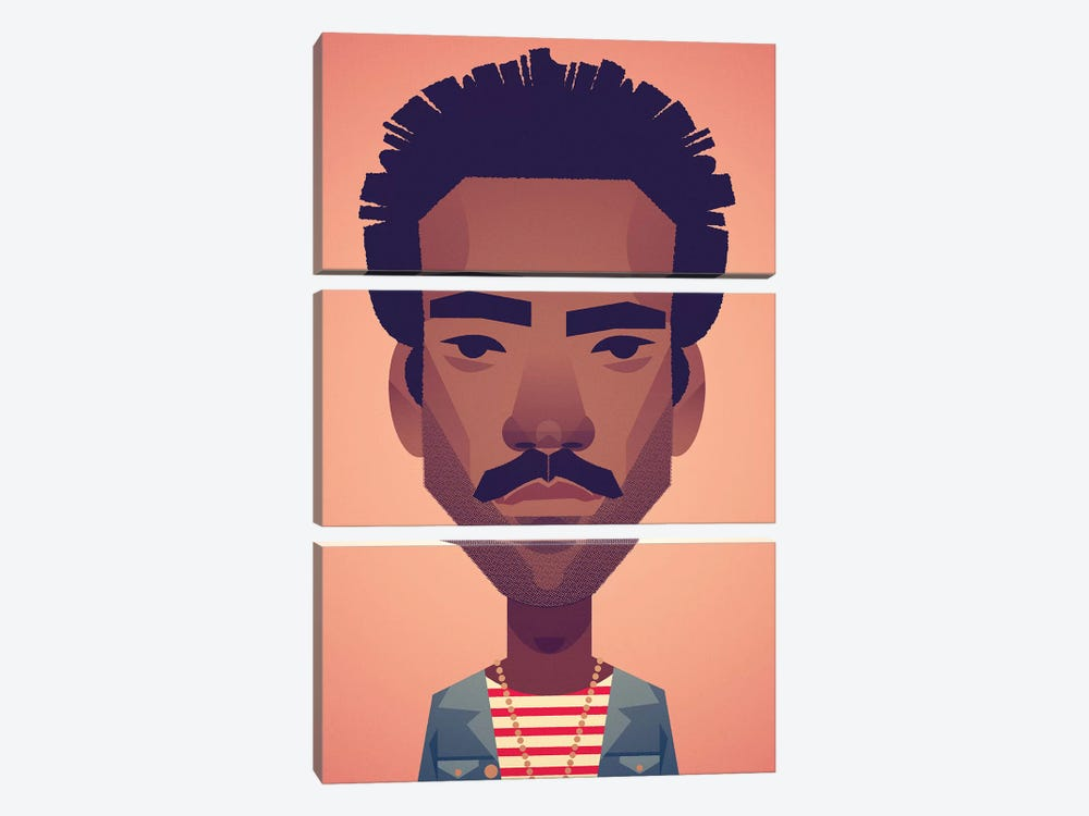 Donald Glover by Stanley Chow 3-piece Canvas Artwork