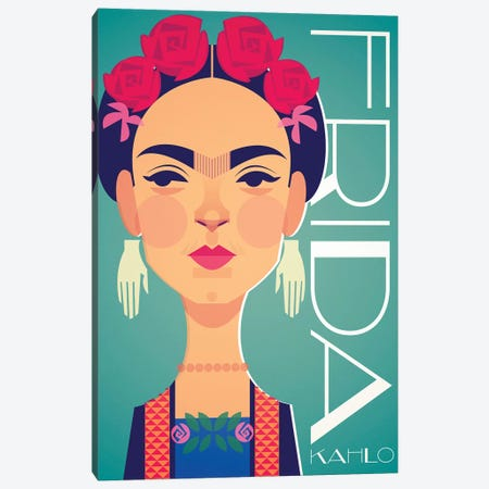 Frida Canvas Print #SLC15} by Stanley Chow Canvas Wall Art