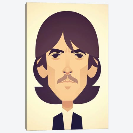 George Harrison Canvas Print #SLC16} by Stanley Chow Canvas Art