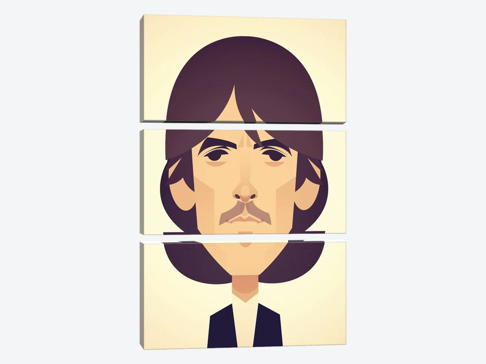 George Harrison by Stanley Chow 3-piece Canvas Wall Art