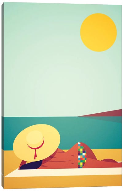 J'Adore Le Soleil Canvas Art Print