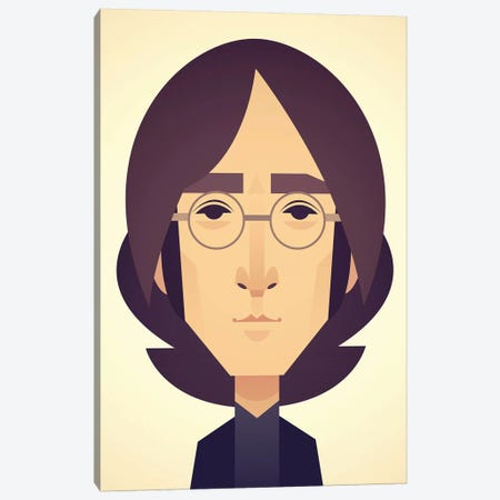 John Lennon Canvas Print #SLC21} by Stanley Chow Canvas Wall Art