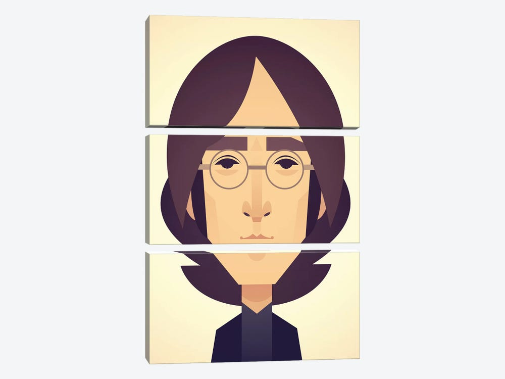 John Lennon by Stanley Chow 3-piece Canvas Wall Art