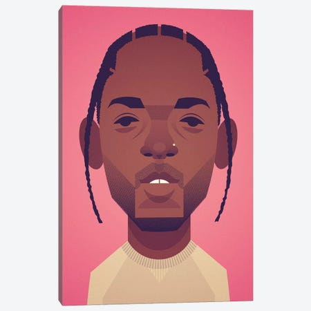 Kendrick Lamar Canvas Print #SLC22} by Stanley Chow Canvas Art