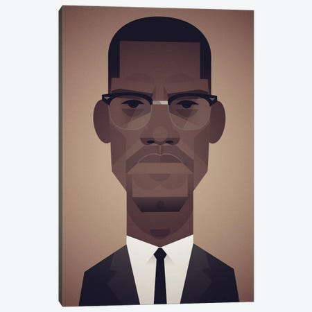 Malcolm X Canvas Print #SLC23} by Stanley Chow Canvas Art