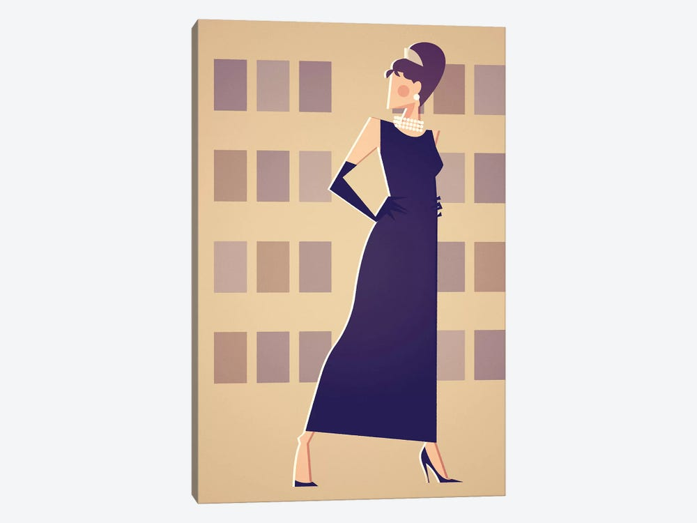 Miss Golightly by Stanley Chow 1-piece Canvas Art Print