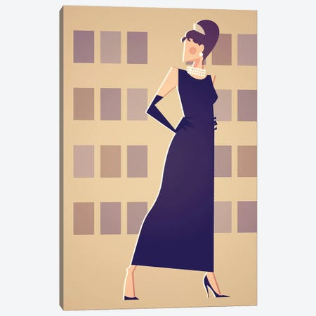 Miss Golightly Canvas Print #SLC26} by Stanley Chow Art Print