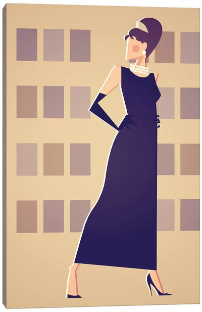 Miss Golightly Canvas Art Print