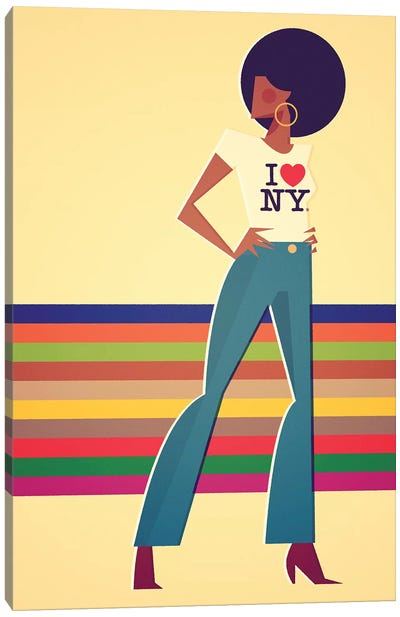 Miss New York Canvas Art Print