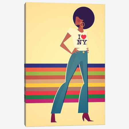 Miss New York Canvas Print #SLC28} by Stanley Chow Canvas Wall Art