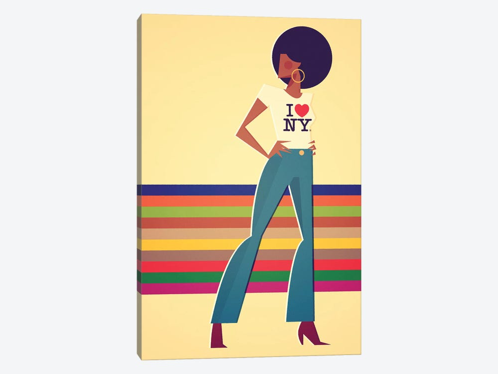 Miss New York by Stanley Chow 1-piece Canvas Art Print