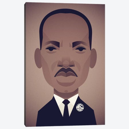 MLK Canvas Print #SLC29} by Stanley Chow Canvas Wall Art