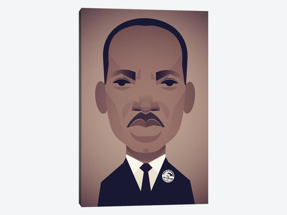 MLK by Stanley Chow 1-piece Canvas Art