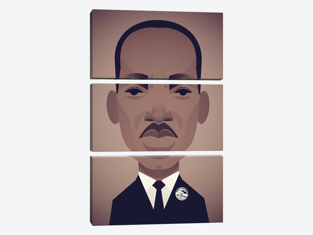 MLK by Stanley Chow 3-piece Canvas Art