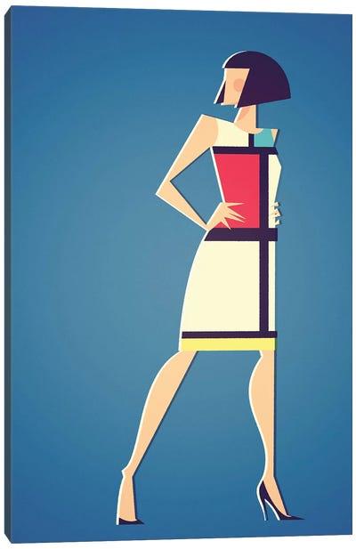 Mondrian x YSL Canvas Art Print