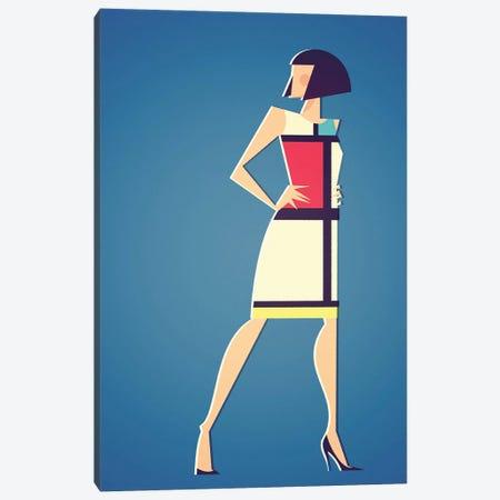 Mondrian x YSL Canvas Print #SLC31} by Stanley Chow Art Print