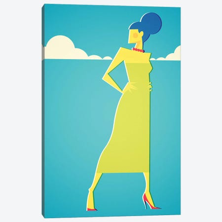 Mrs Simpson Canvas Print #SLC32} by Stanley Chow Art Print