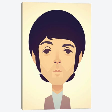 Paul McCartney Canvas Print #SLC34} by Stanley Chow Canvas Wall Art