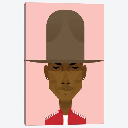 Pharrell Canvas Print #SLC35} by Stanley Chow Canvas Art