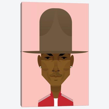 Pharrell Canvas Print #SLC35} by Stanley Chow Canvas Art