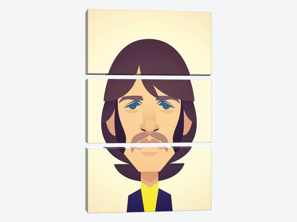 Ringo Starr by Stanley Chow 3-piece Canvas Wall Art