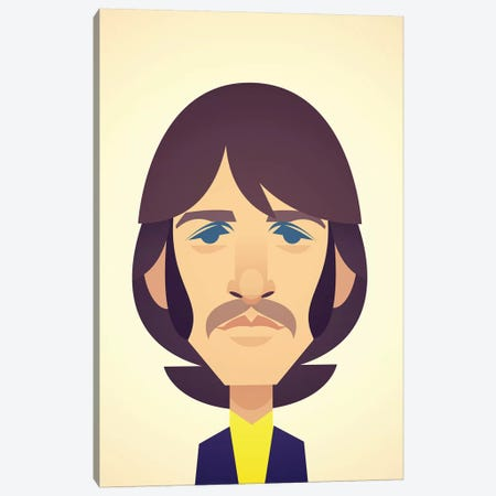 Ringo Starr Canvas Print #SLC38} by Stanley Chow Canvas Art Print