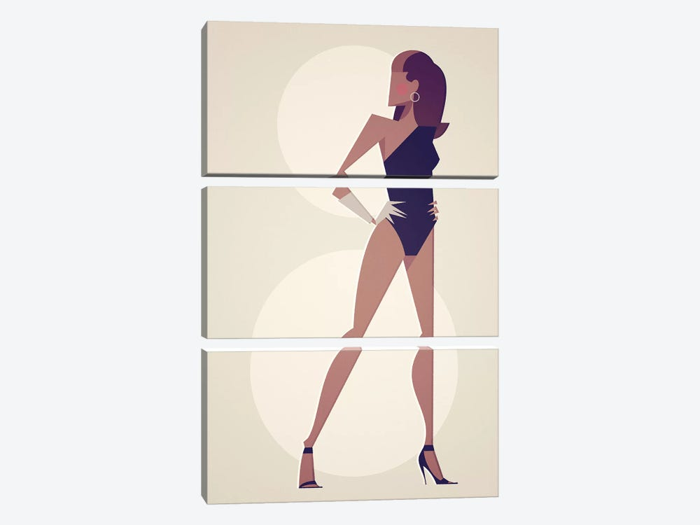 Single Lady by Stanley Chow 3-piece Canvas Print