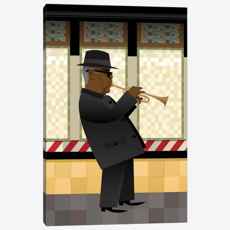 Take The A-Train Canvas Print #SLC41} by Stanley Chow Canvas Artwork