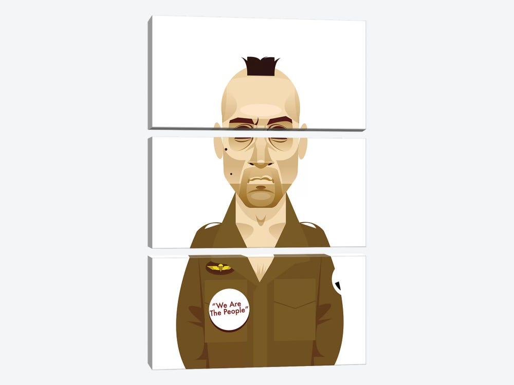 Taxi Driver  by Stanley Chow 3-piece Art Print
