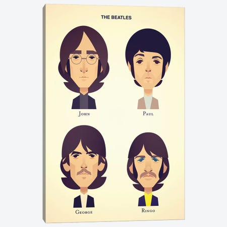 The Beatles Canvas Print #SLC43} by Stanley Chow Canvas Wall Art