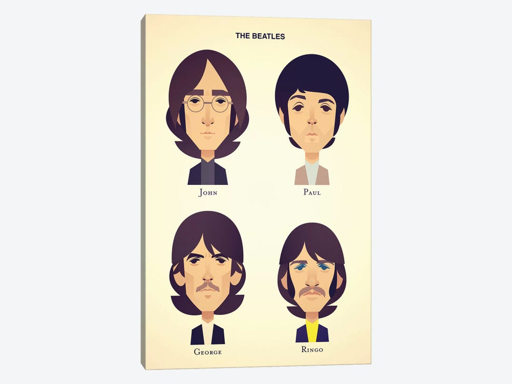 The Beatles by Stanley Chow 1-piece Canvas Wall Art