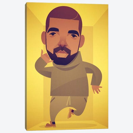 Drake Canvas Print #SLC46} by Stanley Chow Canvas Art Print