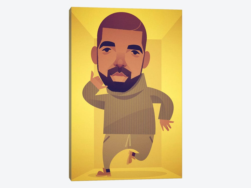 Drake by Stanley Chow 1-piece Canvas Print