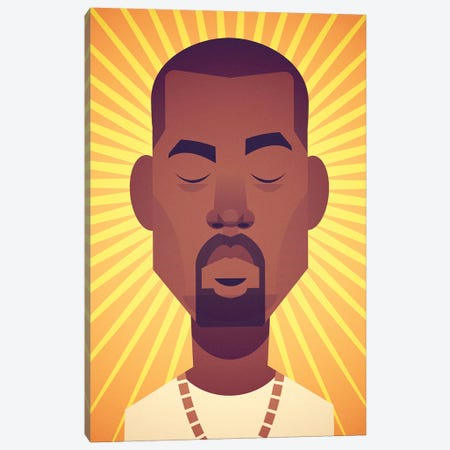 Kanye Canvas Print #SLC47} by Stanley Chow Canvas Art Print