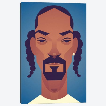Snoop Canvas Print #SLC48} by Stanley Chow Canvas Artwork