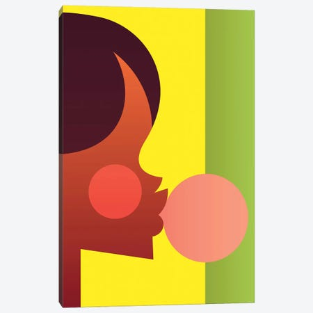 Bubblegum Girl Canvas Print #SLC5} by Stanley Chow Canvas Art