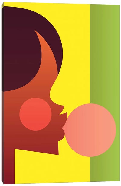 Bubblegum Girl Canvas Art Print