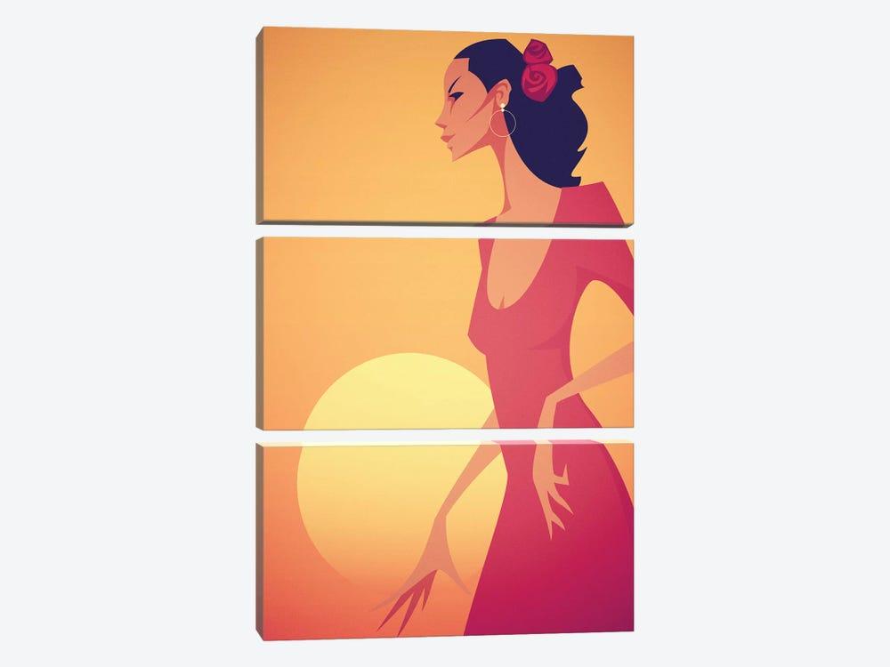 Carmen by Stanley Chow 3-piece Canvas Artwork