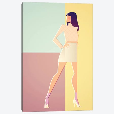 Christy In Versace_'94 Canvas Print #SLC8} by Stanley Chow Canvas Art Print