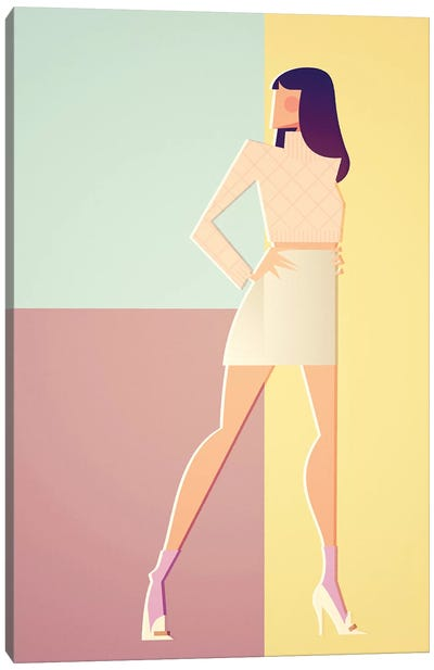 Christy In Versace_'94 Canvas Art Print