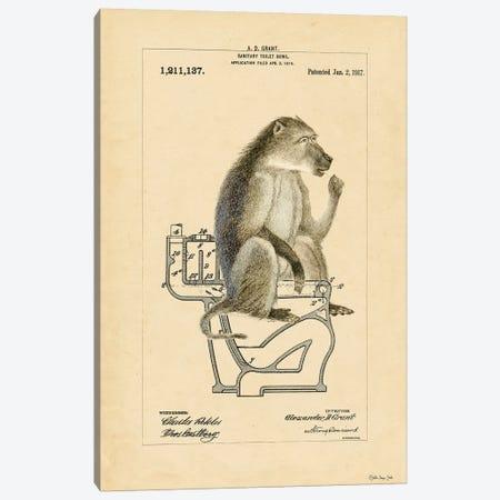 Monkey in Bowl Canvas Print #SLD100} by Stellar Design Studio Art Print