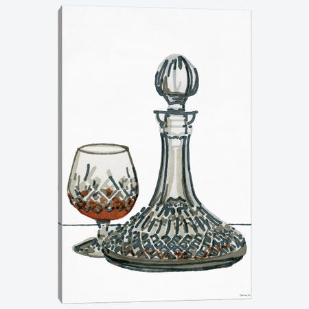 Vintage Decanter I Canvas Print #SLD116} by Stellar Design Studio Canvas Print