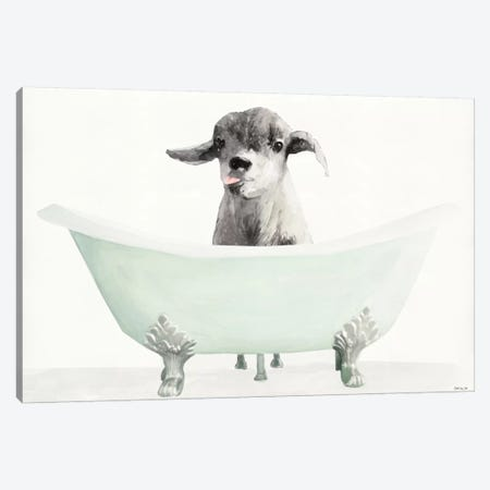 Vintage Tub with Goat Canvas Print #SLD118} by Stellar Design Studio Canvas Art