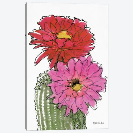 Cactus Flower I Canvas Print #SLD126} by Stellar Design Studio Canvas Wall Art