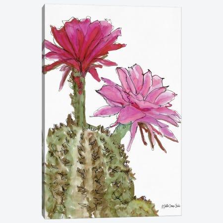 Cactus Flower II Canvas Print #SLD127} by Stellar Design Studio Canvas Artwork